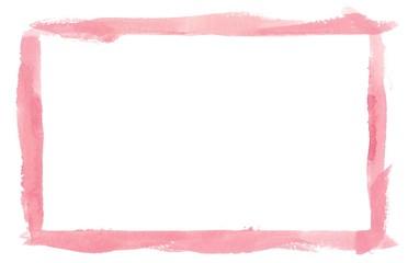 Pink Watercolor Border Frame