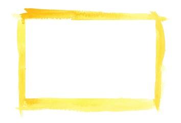 Yellow Watercolor Border Frame