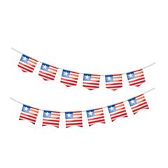 Liberia flag, vector illustration on a white background.
