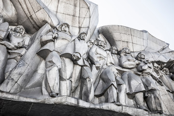 Soviet/Stalinist wall mural/bas relief, Minsk, Belarus