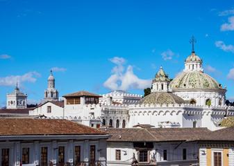 Domes of La Compania Church, Old Town, Quito, Pichincha Province, Ecuador