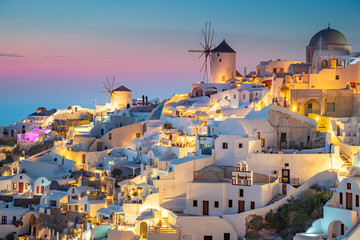 Greece, Cyclades islands, Santorini (Thira), Ia (Oia) and Santorini Caldera