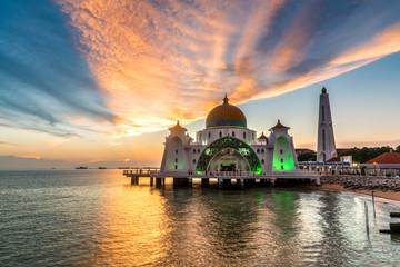 Melaka Straits Mosque, Malacca City, Malaysia