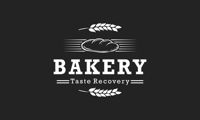 Bakery Logo Vintage Design Vector Illustration Icon
