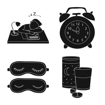 Isolated object of dreams and night icon. Collection of dreams and bedroom vector icon for stock.