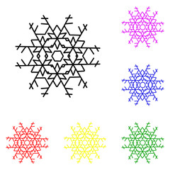 Snowflake line icon. Elements of Christmas and New Year in multi colored icons. Simple icon for websites, web design, mobile app, info graphics