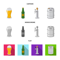 Isolated object of pub and bar sign. Collection of pub and interior vector icon for stock.
