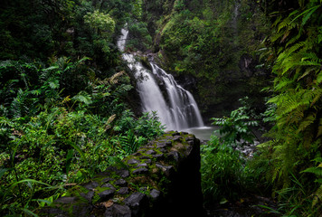 Tropical Waterfall Maui Hawaii Road to Hana