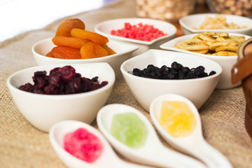 Collection of dried fruits