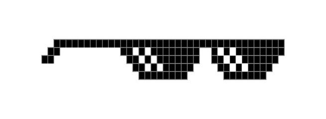 pixel glasses vector image thug life