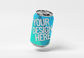 Isolated Metal Can Mockup