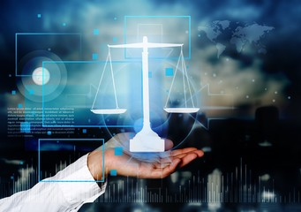 Justice concept law advocate attorney authority balance