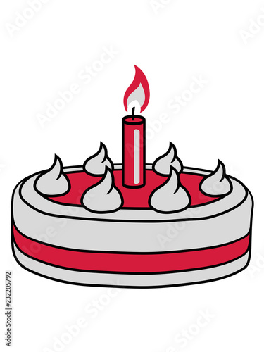 Geburtstag Lecker Backen Hunger Naschen Torte Kuchen Flamme