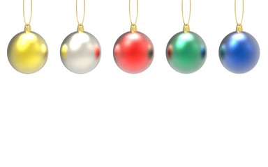 christmas ornament 3d rendering on white background