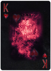 King of Hearts playing card Abstract Background