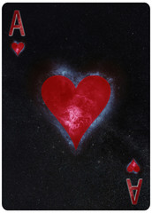 Ace of hearts playing card Abstract Background