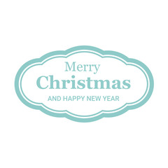 Christmas holiday card with white background