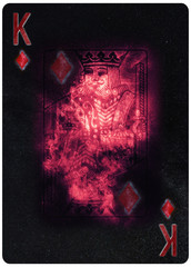 King of diamonds playing card Abstract Background