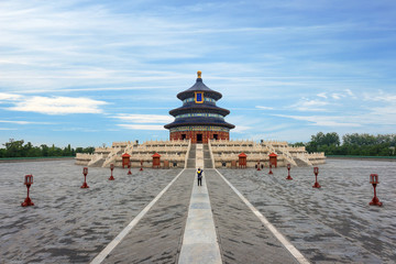 Papiers peints Edifice religieux Wonderful and amazing Beijing temple - Temple of Heaven in Beijing, China. Hall of Prayer for Good Harvest..