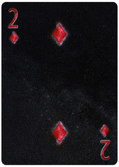 Two of diamonds playing card Abstract Background