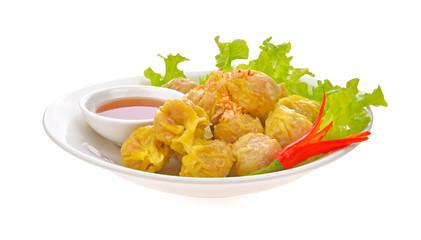 Pork Dumpling on white background