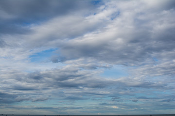 dark storm clouds before rain and sky