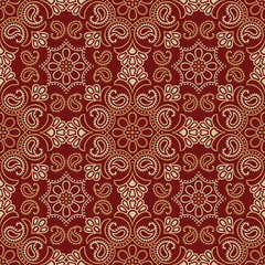 Seamless traditional indian wallpaper