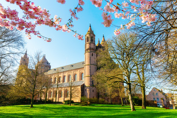 historical Worms Cathedral in Worms, Germany