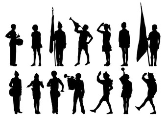 silhouettes pioneers scouts teens