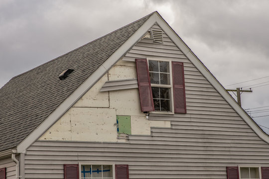 high winds have damaged the siding of your home