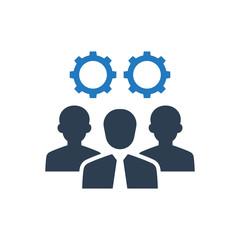 Teamwork planning icon