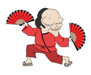 Asian man draw
