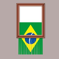 DRAPEAU BRESIL - Cadre Dechire