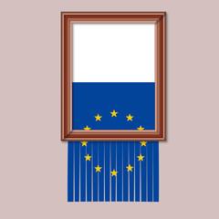 DRAPEAU EUROPE - Cadre Dechire