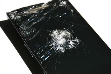 Broken screen of smartphone or other devices