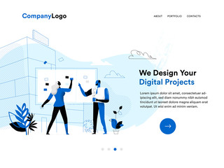 Digital agency homepage template