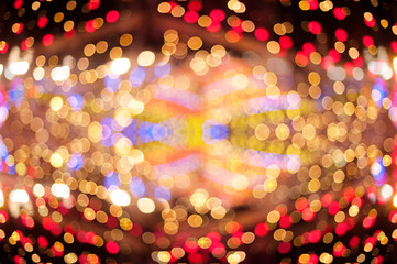 abstract blurred background with Christmas decoration and beautiful bokeh
