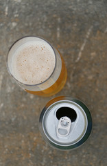 beer can and contemporary craft beer