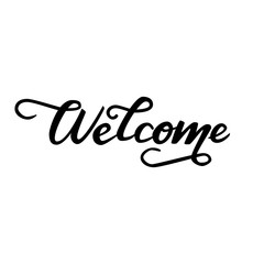 Lettering Welcome. Vector illustration