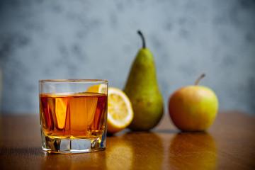 fruit juice in glass