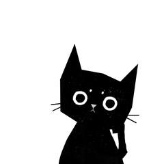 black cat thinks