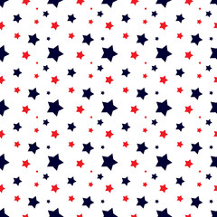 seamless background with colorful stars