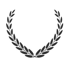 Vector laurel wreath isolated on white. Vector icon.