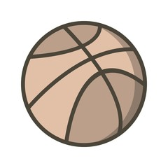 Basket Ball Education Filled Outline Icon