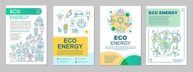 Eco energy brochure template layout