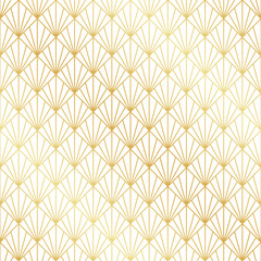 Seamless gold Art Deco pattern