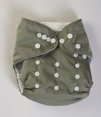Gray reusable diapers