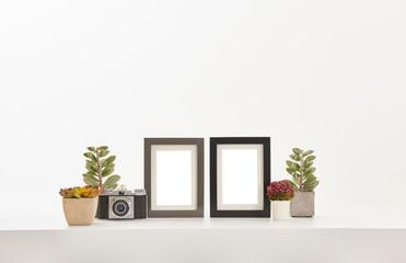 decorative frame close up concept and home ornament.