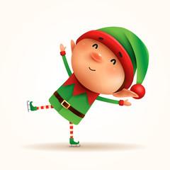 Little elf skates. Isolated.