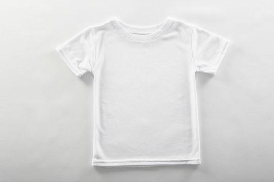 Blank t-shirt on white background